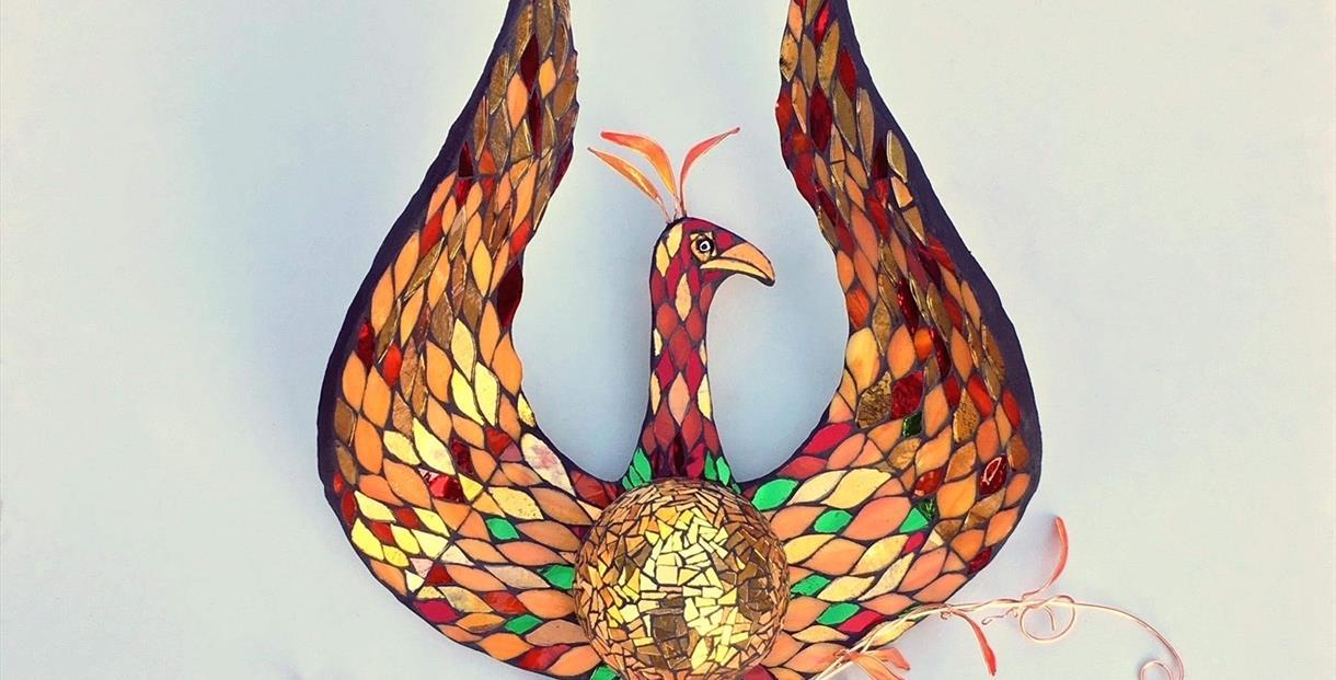 'Phoenix' mosaic by Kate Rattray