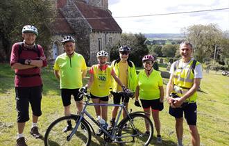 North Dorset church setting  on bike tour