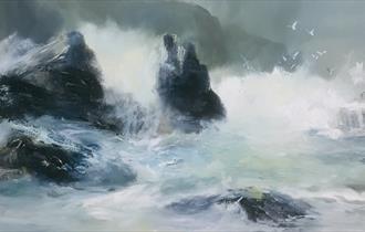 'Storm At Horseshoe Rock' by Kim Pragnell