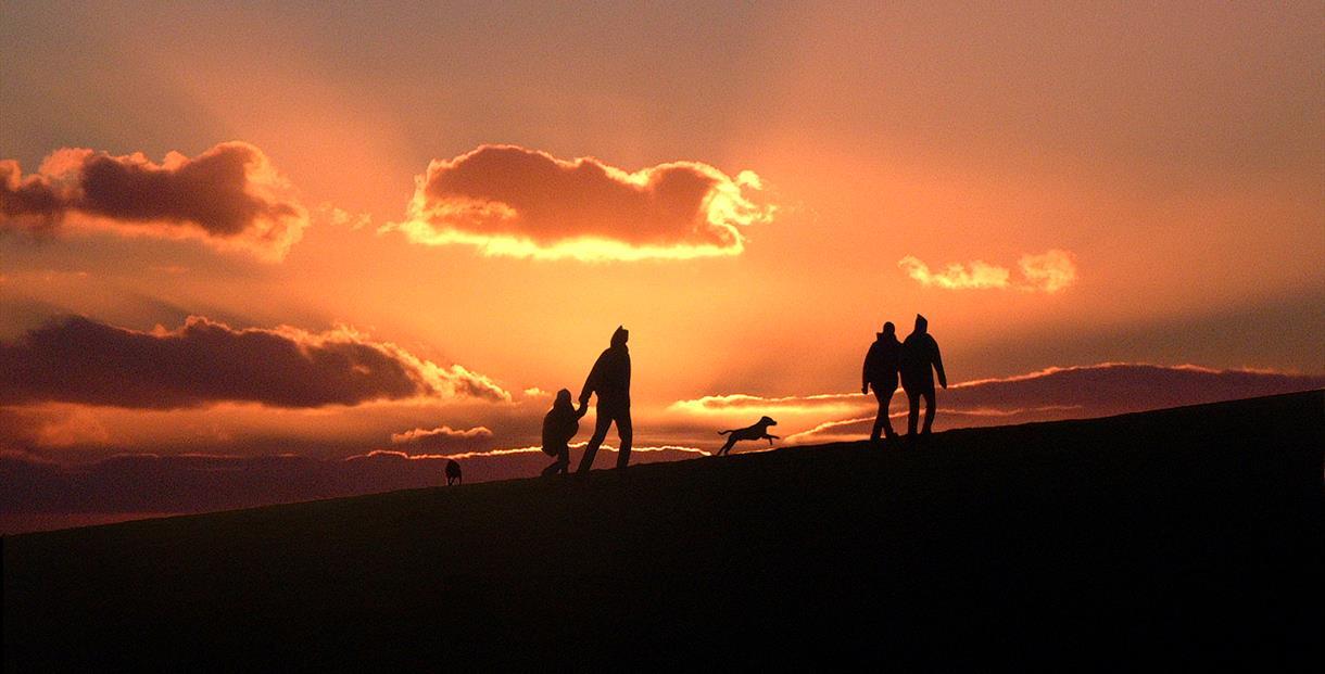 Sunset near Portesham, Dorset