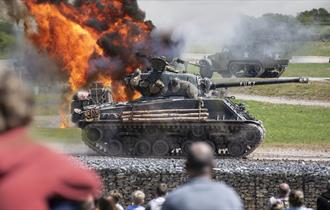 Tank display at The Tank Museum in Bovington, Dorset