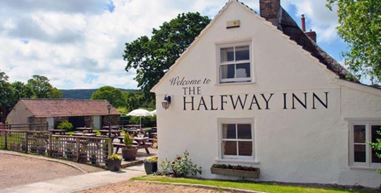 Outside of The Halfway Inn, near Corfe Castle, Dorset