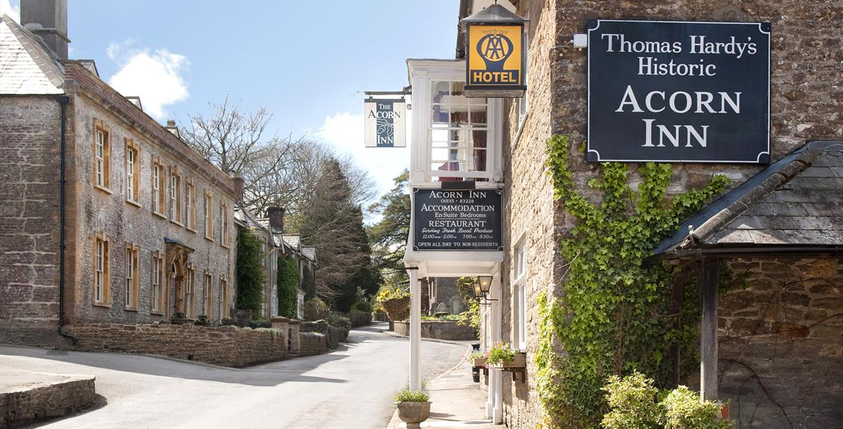 The Acorn Inn at Evershot - as featured in Thomas Hardy's Tess of the D'Urbervilles.