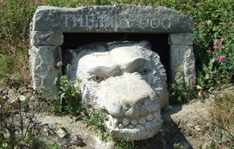 The Roy Dog at Tout Quarry Sculpture Park, Isle of Portland, Dorset