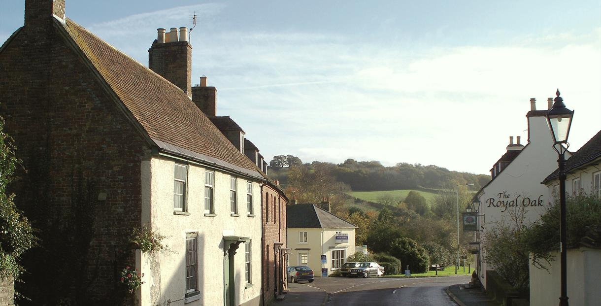 View to Woodbury Hill along West Street, Bere Regis