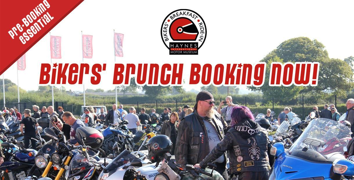 Bikers' Brunch meet up with 'Bikers' Brunch' graphics over the top