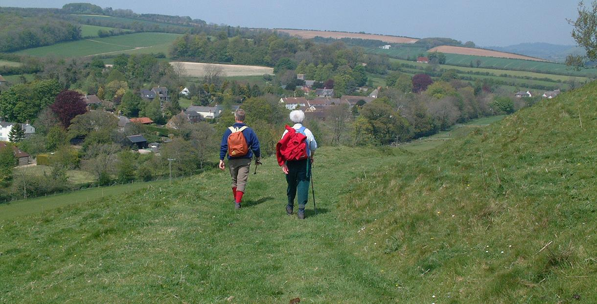 Walkers in the countryside