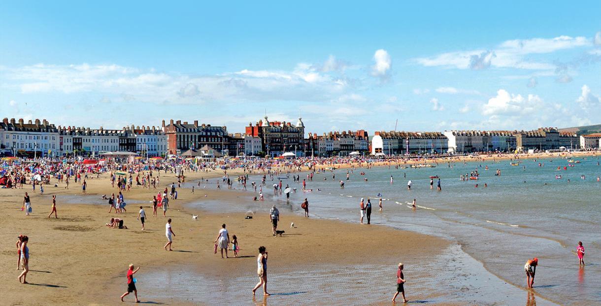Family fun, Weymouth Beach