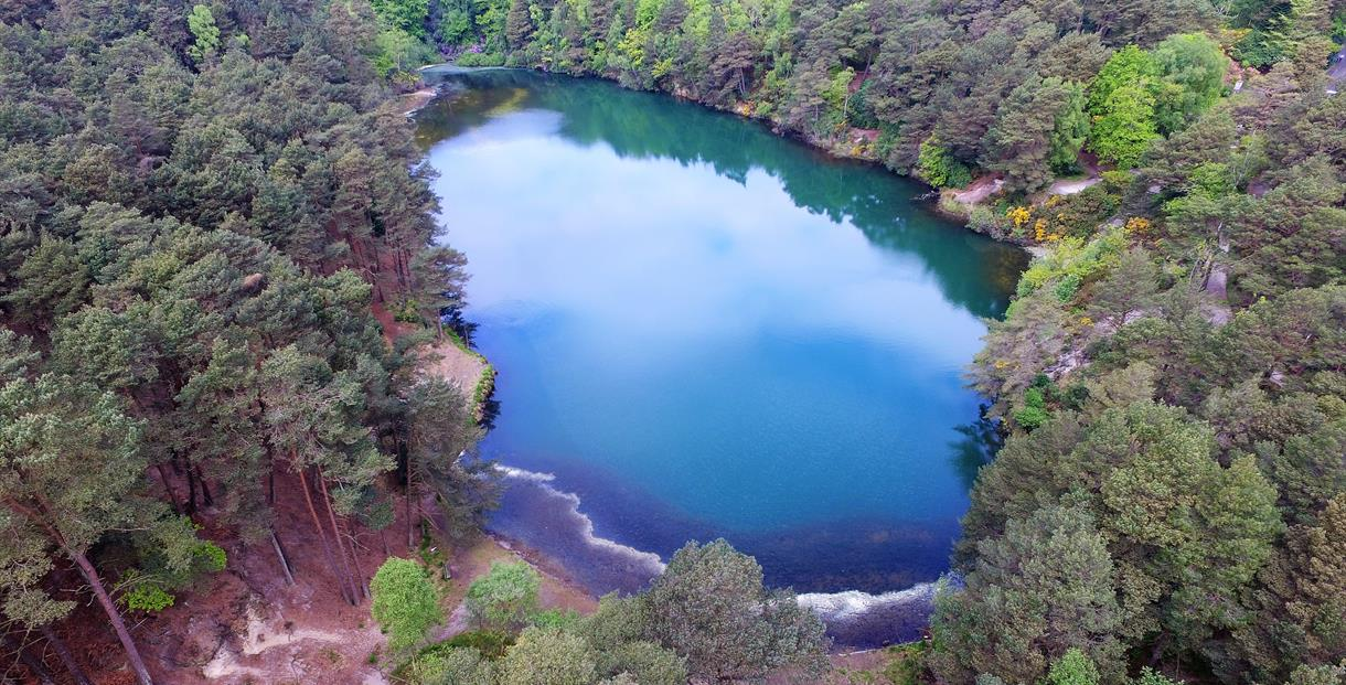 The Blue Pool in Dorset