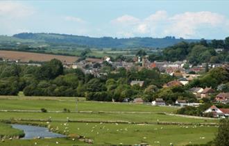 Views of Bridport from West Bay, Dorset