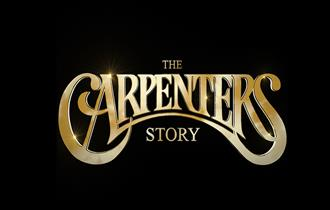 The carpenters story gold text title on a black background