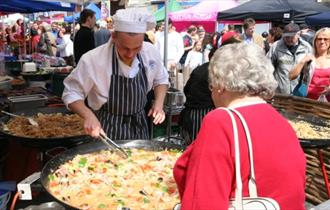 A stall selling food at the Christchurch Food Festival