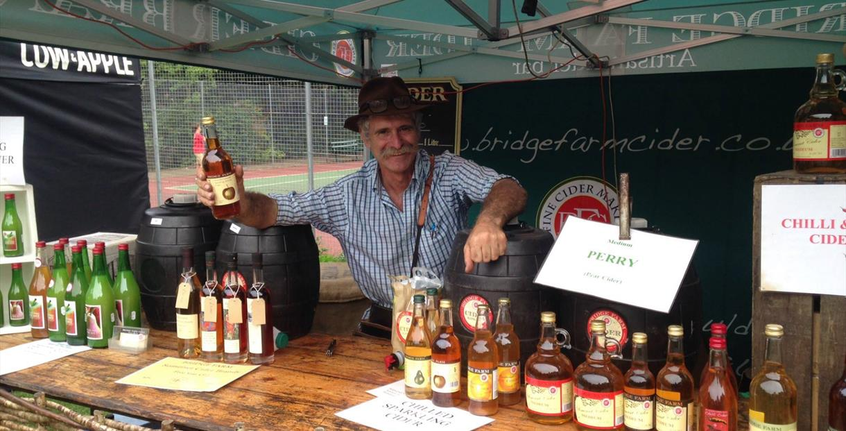 Stall selling cider at the festival