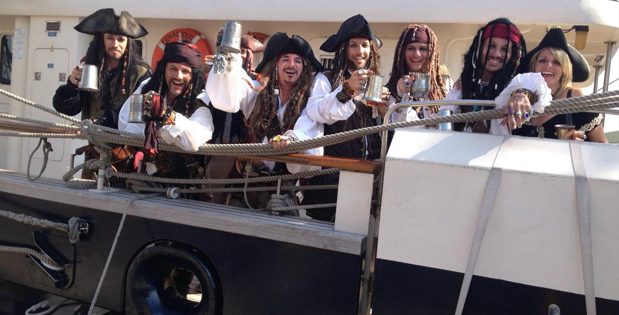 Pirates celebrating Harry Paye Day in Poole