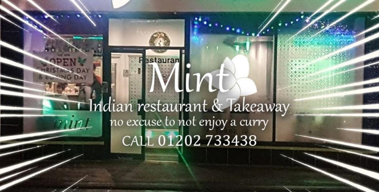 Outside photo of Mint Indian Restaurant.
