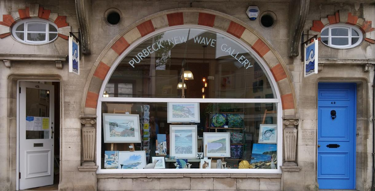 Purbeck New Wave Gallery shopfront in Swanage