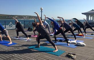Yoga on Swanage Pier