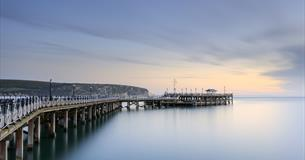 swanage pier early light