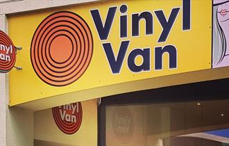 Vinyl Van record shop in Brewery Square, Dorchester