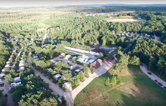Wareham Forest Tourist Park aerial view
