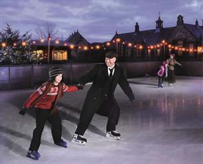 Ice skating at Beamish Museum