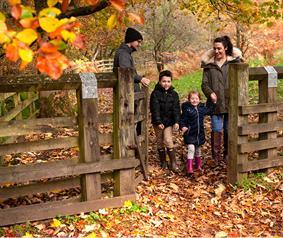 family walking at Bowlees