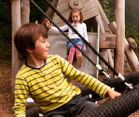 children playing in Hamsterley Forest