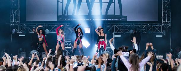 little mix open-air concert at the Emirates Riverside ground.