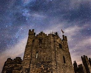 dark skies perfect for stargazing at Raby Castle