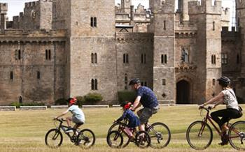 Cycling at Raby Castle