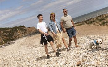 Family at Seaham Beach
