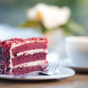Selection of seasonal cakes at The Cafe Wynyard Hall Gardens