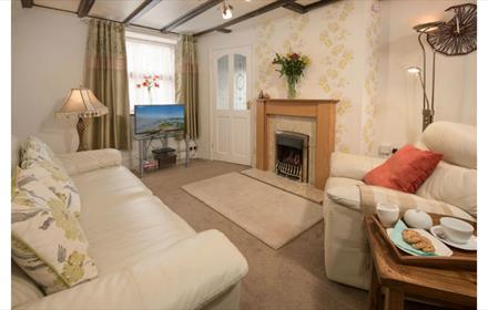 Living Room at Corner Cottage Wolsingham