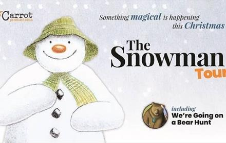 'The Snowman' and 'We're Going on a Bear Hunt' poster.