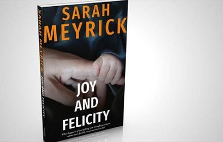 Image of the cover of Sarah Meyrick's novel 'Joy and Felicity'