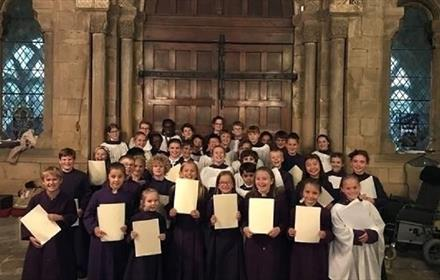 Choristers at Durham Cathedral