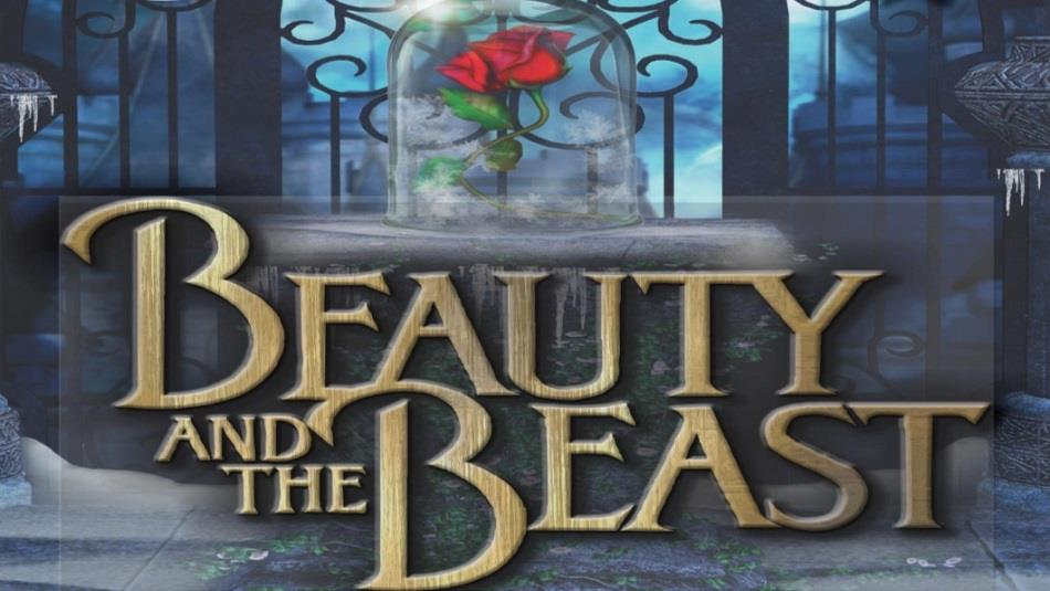 Beauty and the Beast. Red Rose  with glass cover