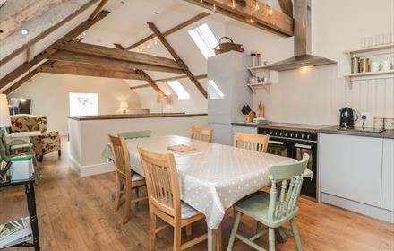 Open plan area at Cross Cottage