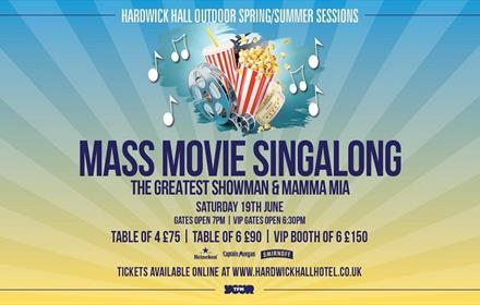 Movie Singalong Artwork, Poster Containing Event Details