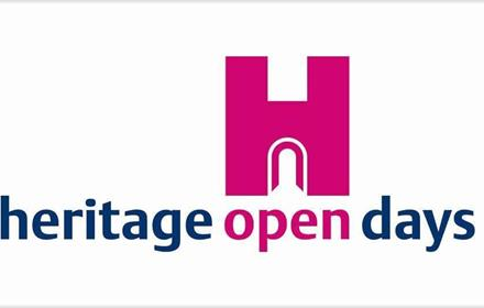 Heritage Open Days Logo - capital H with the wording heritage open days