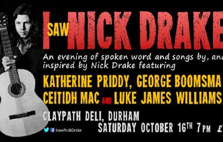 Image of a guitarist on poster advertising 'I saw Nick Drake'
