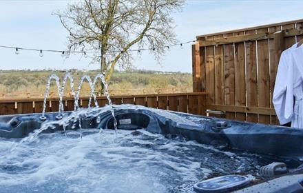 outside hot tub