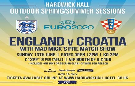 England vs Croatia: Poster Displaying Match Details