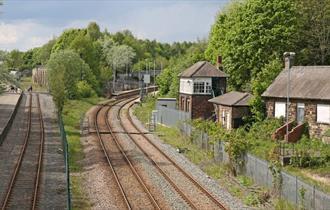 Railway line at Locomotion