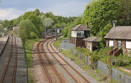 Railway line at Locomotion
