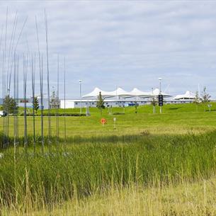 Grassland with Dalton Park in background