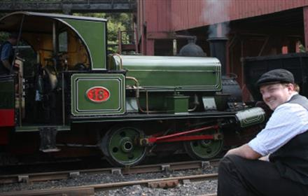 Image of an old-fashioned Colliery Railway Train at Beamish
