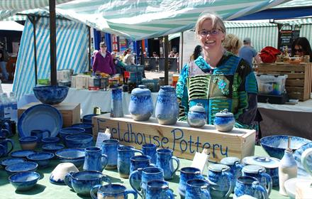 Pottery Stall at Durham Food Producers' and Crafters' Market