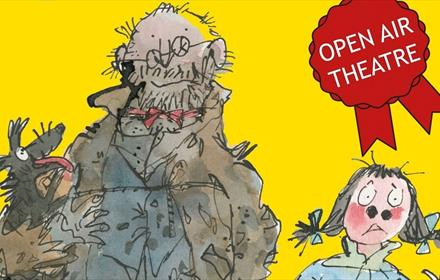 Coloured sketch of Mr Stink and Chloe by Quentin Blake
