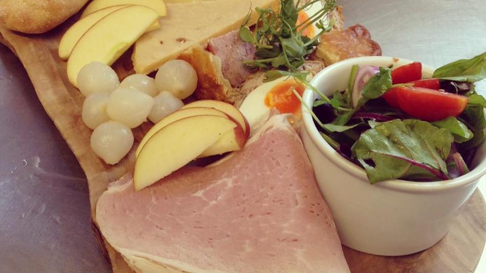 Knitsley Farm Granary Café food platter